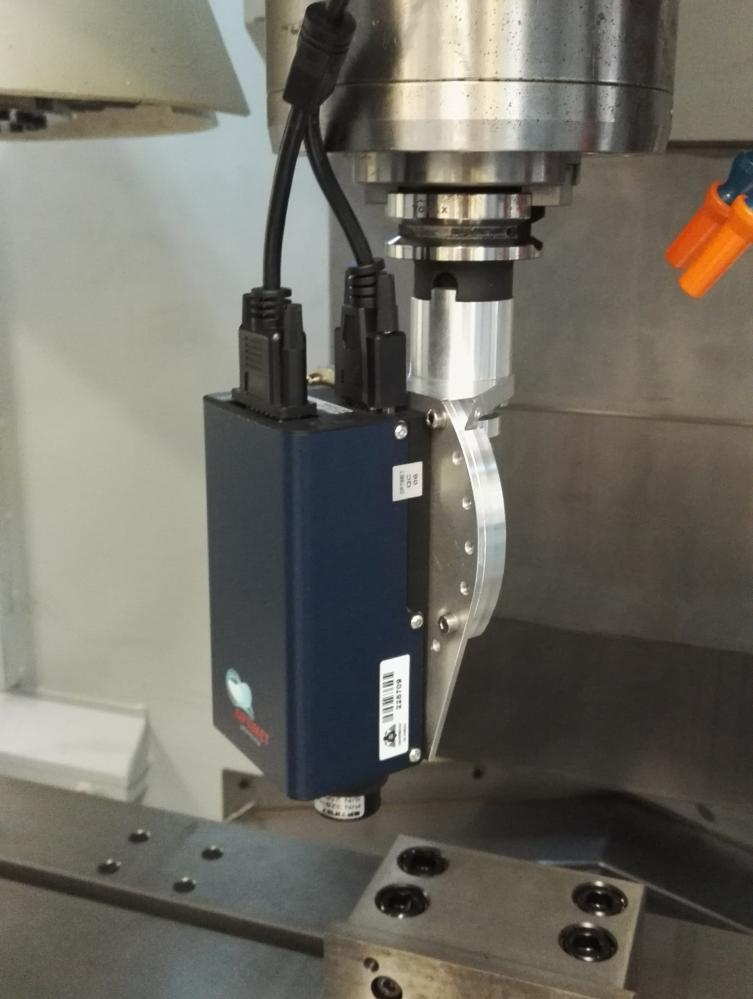 Conoscopic holography sensor installed on a Machining Centre